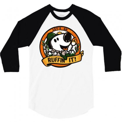 Ruffin' It 3/4 Sleeve Shirt Designed By Milaart