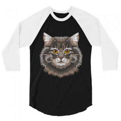 Cat 3/4 Sleeve Shirt Designed By Wizarts