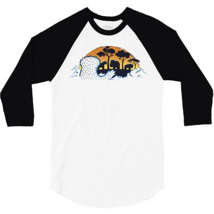 S Is For Safari 3/4 Sleeve Shirt Designed By Milaart