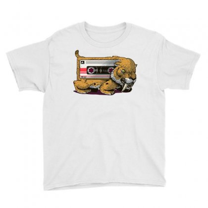 Sabertooth Cassette Youth Tee Designed By Milaart