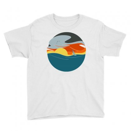 Sailing To The Sunset Youth Tee Designed By Milaart