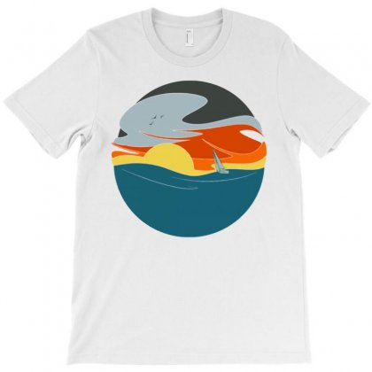 Sailing To The Sunset T-shirt Designed By Milaart