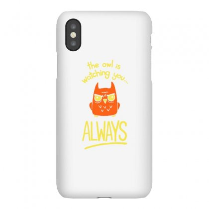 The Owl Is Watching You Iphonex Case Designed By Milaart