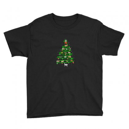 Christmas Animal Tree Youth Tee Designed By Hasret