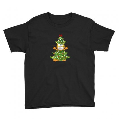 Christmas Garfield Youth Tee Designed By Hasret