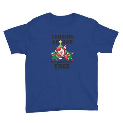 Dabbing Around The Christmas Tre With Santa Youth Tee Designed By Sr88