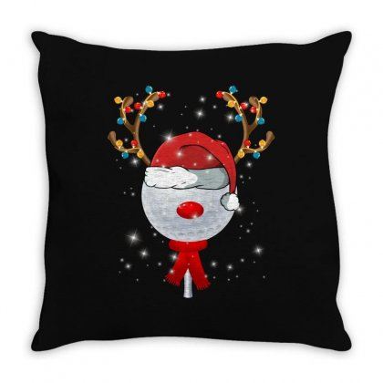 Christmas Golf Ball Throw Pillow Designed By Sengul