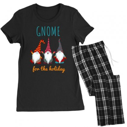 Gnome For The Holiday Colorful Women's Pajamas Set Designed By Zeynepu