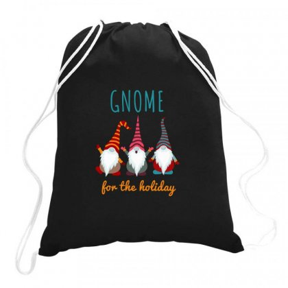 Gnome For The Holiday Colorful Drawstring Bags Designed By Zeynepu