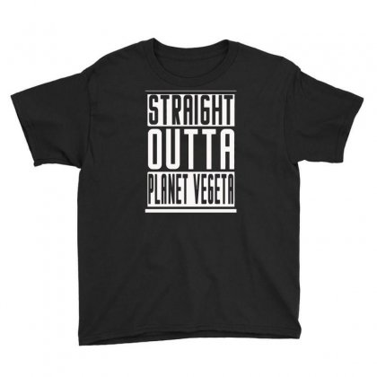 Straight Outta Planet Vegeta Youth Tee Designed By Erryshop