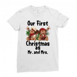Our First Christmas As Mr. And Mrs For Light Ladies Fitted T-shirt Designed By Sengul