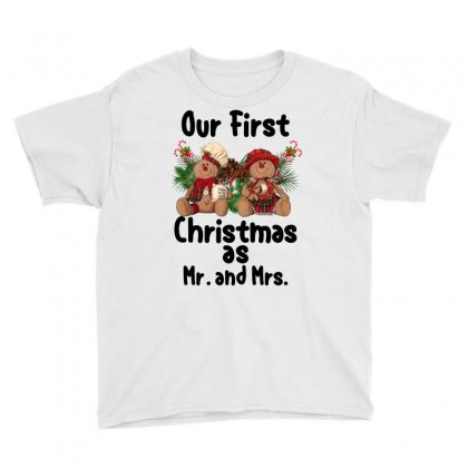 Our First Christmas As Mr. And Mrs For Light Youth Tee Designed By Sengul