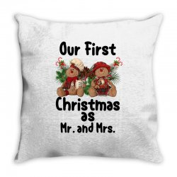 Our First Christmas As Mr. And Mrs For Light Throw Pillow Designed By Sengul