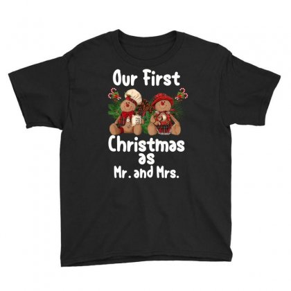 Our First Christmas As Mr. And Mrs For Dark Youth Tee Designed By Sengul