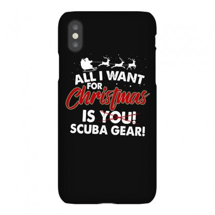 All I Want For Christmas Is You Scuba Gear For Dark Iphonex Case Designed By Sengul