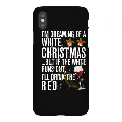 White Christmas Red Wine For Dark Iphonex Case Designed By Sengul