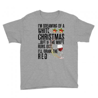 White Christmas Red Wine For Light Youth Tee Designed By Sengul