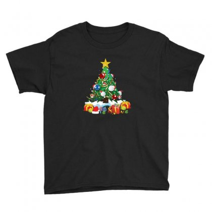 Golf Christmas Tree Funny Xmas Youth Tee Designed By Sr88