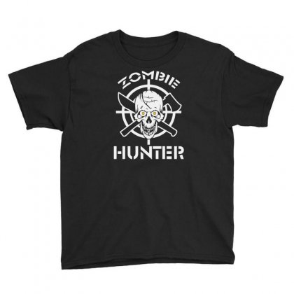 Zombie Hunter Youth Tee Designed By Erryshop