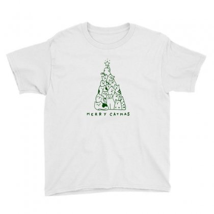 Merry Christmas For Cat Lover Youth Tee Designed By Sr88