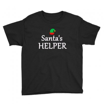 Santa's Helper Fa,ily Group Christmas Costume Youth Tee Designed By Sr88