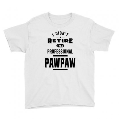 I Didn't Retire I'm A Professional Paw Paw Youth Tee Designed By Cidolopez