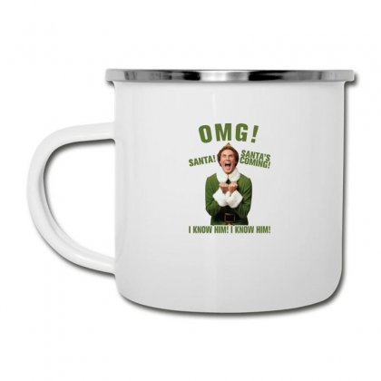 Omg Santa's Coming Elf Camper Cup Designed By Neset