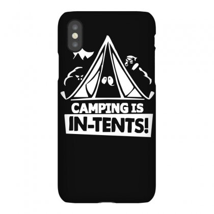 White Ink Camping Is In Tents Funny Iphonex Case Designed By Lyly