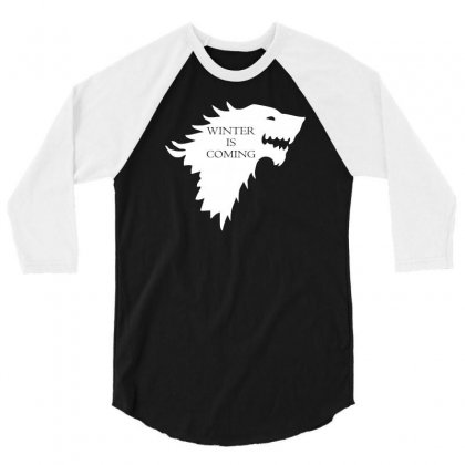 Winter Is Coming 3/4 Sleeve Shirt Designed By Lyly
