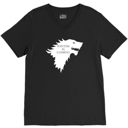Winter Is Coming V-neck Tee Designed By Lyly