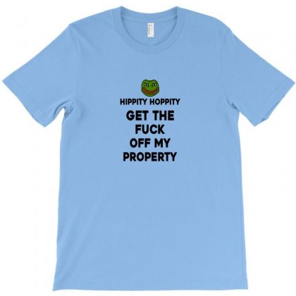 Hippity Hoppity Abolish Private Property T-shirt Designed By Doniemichael