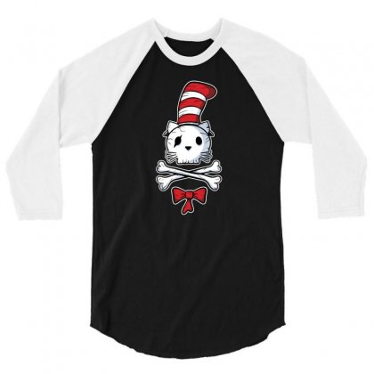 The Pirate In The Hat 3/4 Sleeve Shirt Designed By Dameart