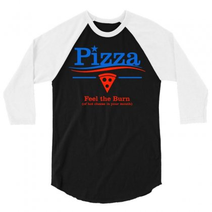 The Pizza Party 3/4 Sleeve Shirt Designed By Dameart