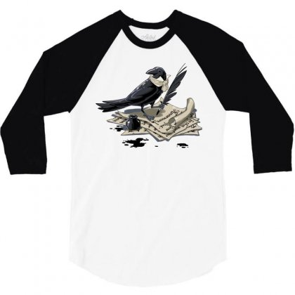 The Poe Et 3/4 Sleeve Shirt Designed By Dameart