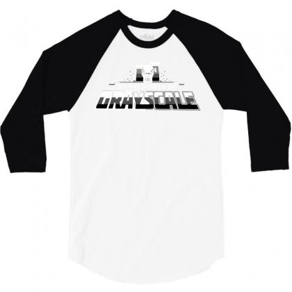 The Power Of Grayscale 3/4 Sleeve Shirt Designed By Dameart