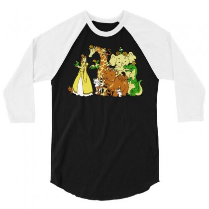 The Princess And The Menagerie 3/4 Sleeve Shirt Designed By Dameart