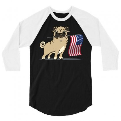 The Pugriot 3/4 Sleeve Shirt Designed By Dameart