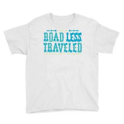 The Road Less Traveled Youth Tee Designed By Dameart