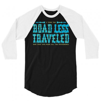 The Road Less Traveled 3/4 Sleeve Shirt Designed By Dameart