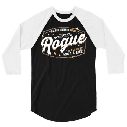 The Rogue 3/4 Sleeve Shirt Designed By Dameart