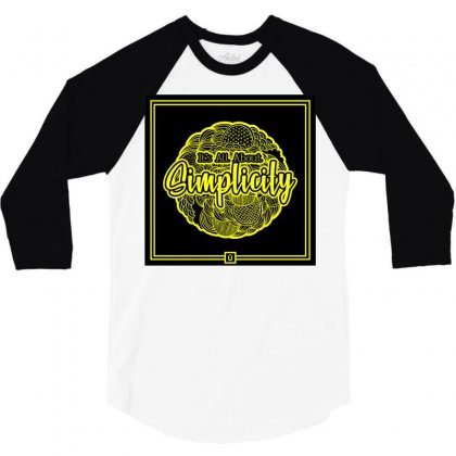 It's All About Simplicity   Black 3/4 Sleeve Shirt Designed By Azuhdaa