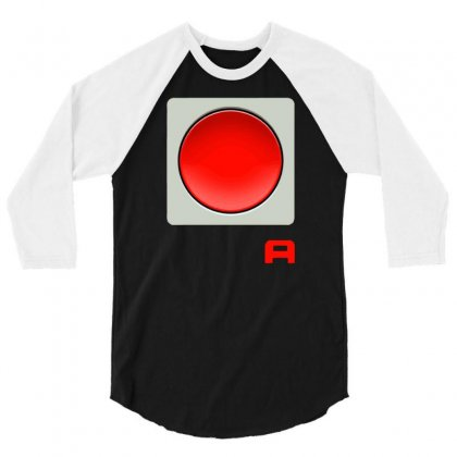 The Scarlet Button 3/4 Sleeve Shirt Designed By Dameart
