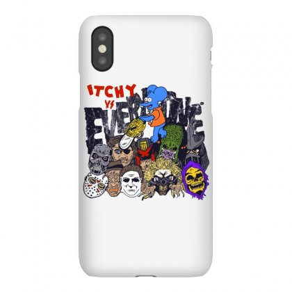 The Simpsons Movie 2 Itchy Vs. Everyone Iphonex Case Designed By Dameart