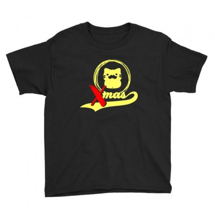 Cat On Christmas Youth Tee Designed By Sr88