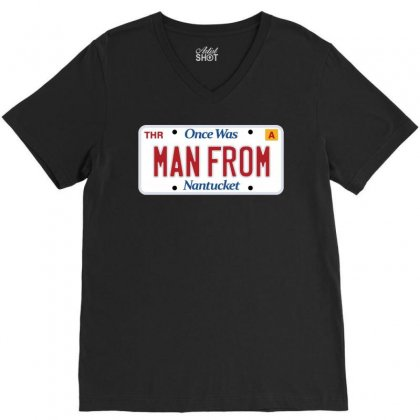 There Once Was A Man From Nantucket V-neck Tee Designed By Dameart
