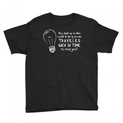 Time Travel Logic Youth Tee Designed By Dameart