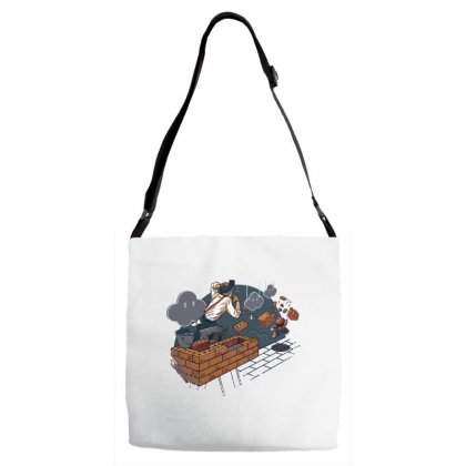 Toadstool Construction Adjustable Strap Totes Designed By Dameart