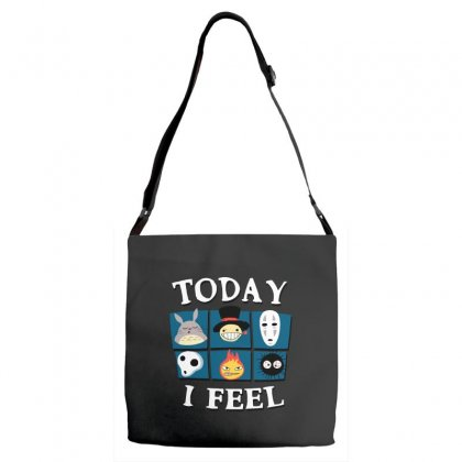 Today I Feel Adjustable Strap Totes Designed By Dameart