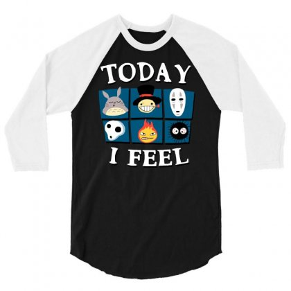 Today I Feel 3/4 Sleeve Shirt Designed By Dameart