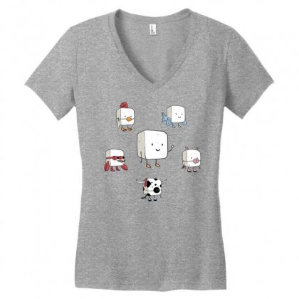 Tofu, Food's Master Of Disguise Women's V-neck T-shirt Designed By Dameart